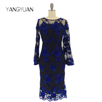 LC-3 Professional clothing factory OEM embroidered women Casual dress