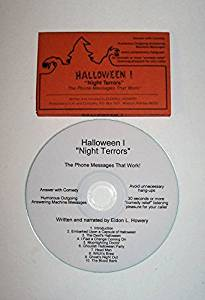 """ABC Products"" - Halloween ~ Answering Machine Messages on CD - ""Night Terrors"" (8 Messages With Music, Sound Effects, Howling, Screaming and Etc.)"
