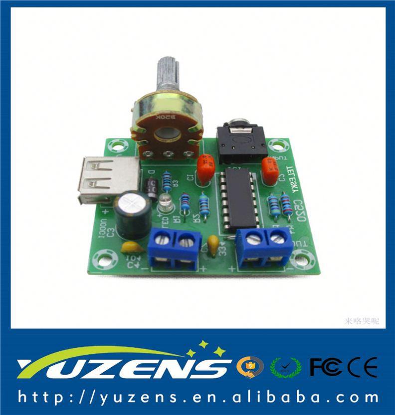 AC//DC 5V Mini Power Amplifier USB Power Supply 5W*2 Hi-FI PM2038 Board DC 2-6V