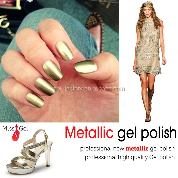 Nail Gel With Metal Effect Metallic Gel Nail Polish Miss Gel 3716 ...