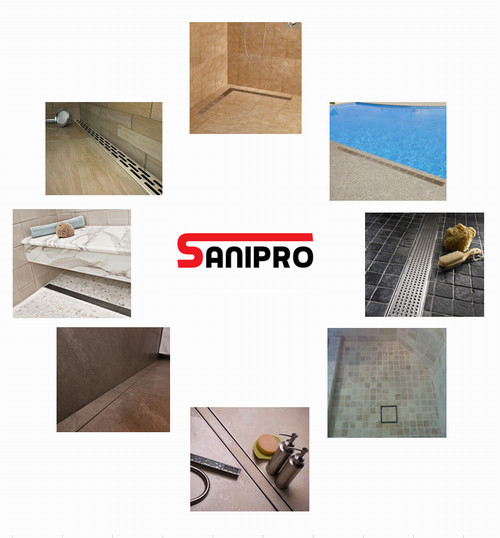 Smart Floor Drain Cover Channel Shower Strip Drain