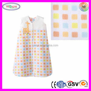 C830 Factory Multi Blocks Printed Baby Blanket 100% Cotton Wearable Baby Blanket Manufacturers China