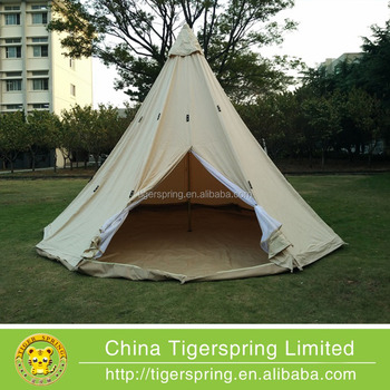 Outdoor pyramid tent canvas c&ing tent from Tigerspring & Outdoor Pyramid Tent Canvas Camping Tent From Tigerspring - Buy ...