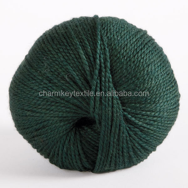 2014 Hot Sale fancy merino wool blended bamboo fiber ball yarn with dark evergreen color