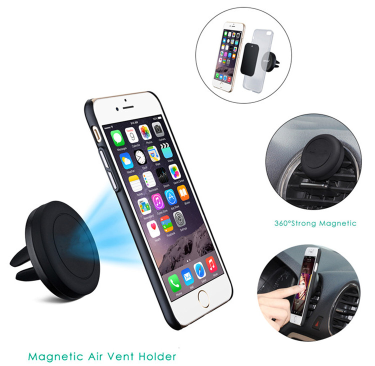 Amazon Best Seller Mobile Phone Stand Holder with 2 Metal Plates Car Mount Magnetic Cell Phone Holder for iPad Stand