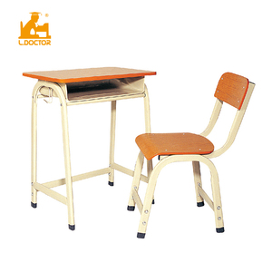 China No.1 school furniture supplier single desk and chair set HY-0202B