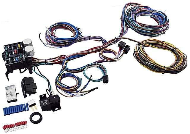 10 12 20 circuit fuse box universal wiring harness with 12 V relay for car or truck