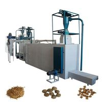 High Quality 1Ton2Ton3Ton4Ton5Ton Per Hour Pet Food Fish Feed Pellet Extrusion Making Machine Dry Wet Dog Snacks Processing Line