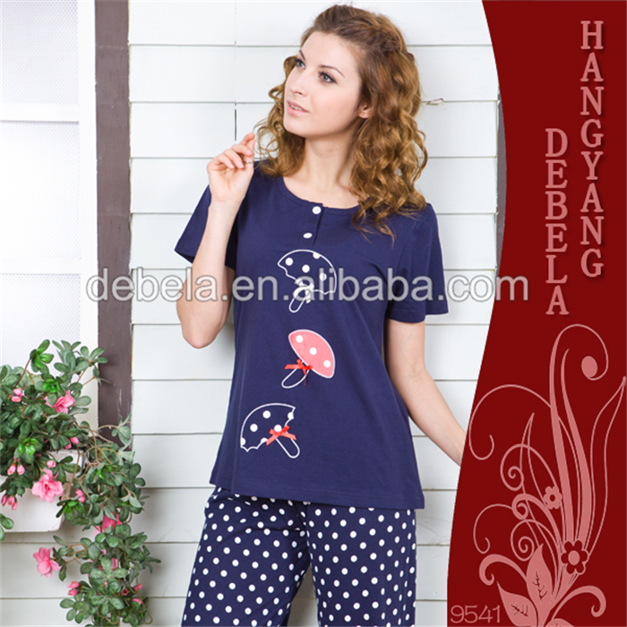 f842212989 Stylish printed modal sexy bedroom night wears pajama lady cotton girl  pajamas
