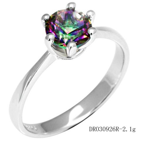 of fire iobi cut mystic copy rings solitaire round topaz products wedding precious gems genuine rainbow ring feshionn