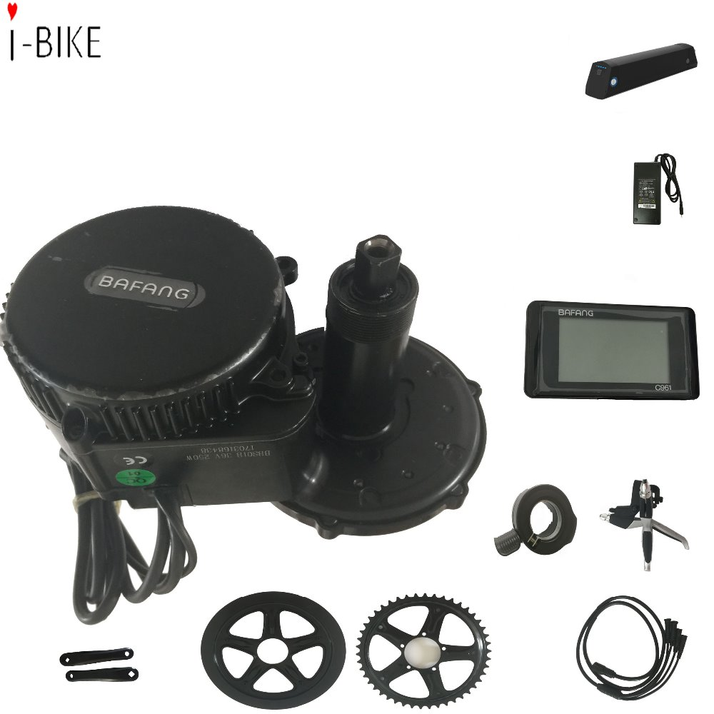 36v/48v 250w bafang mid drive motor e bike kit with battery optional
