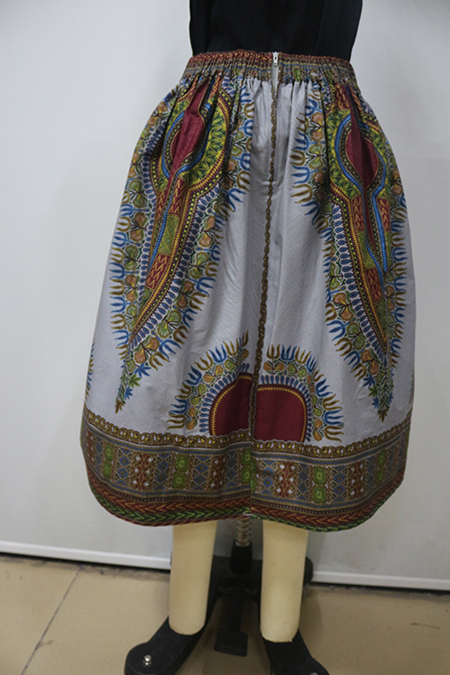 Dashiki African SkirtsTraditional Print Cotton Women Long Skirts In Stock