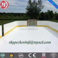 anti-abrasition white 5mm plastic sheet hdpe synthetic ice rink for roller skating ground and barrier ,portable outdoor hockey