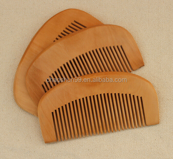 Promotional Wooden Beaded Double Hair Combs Personalized Comb