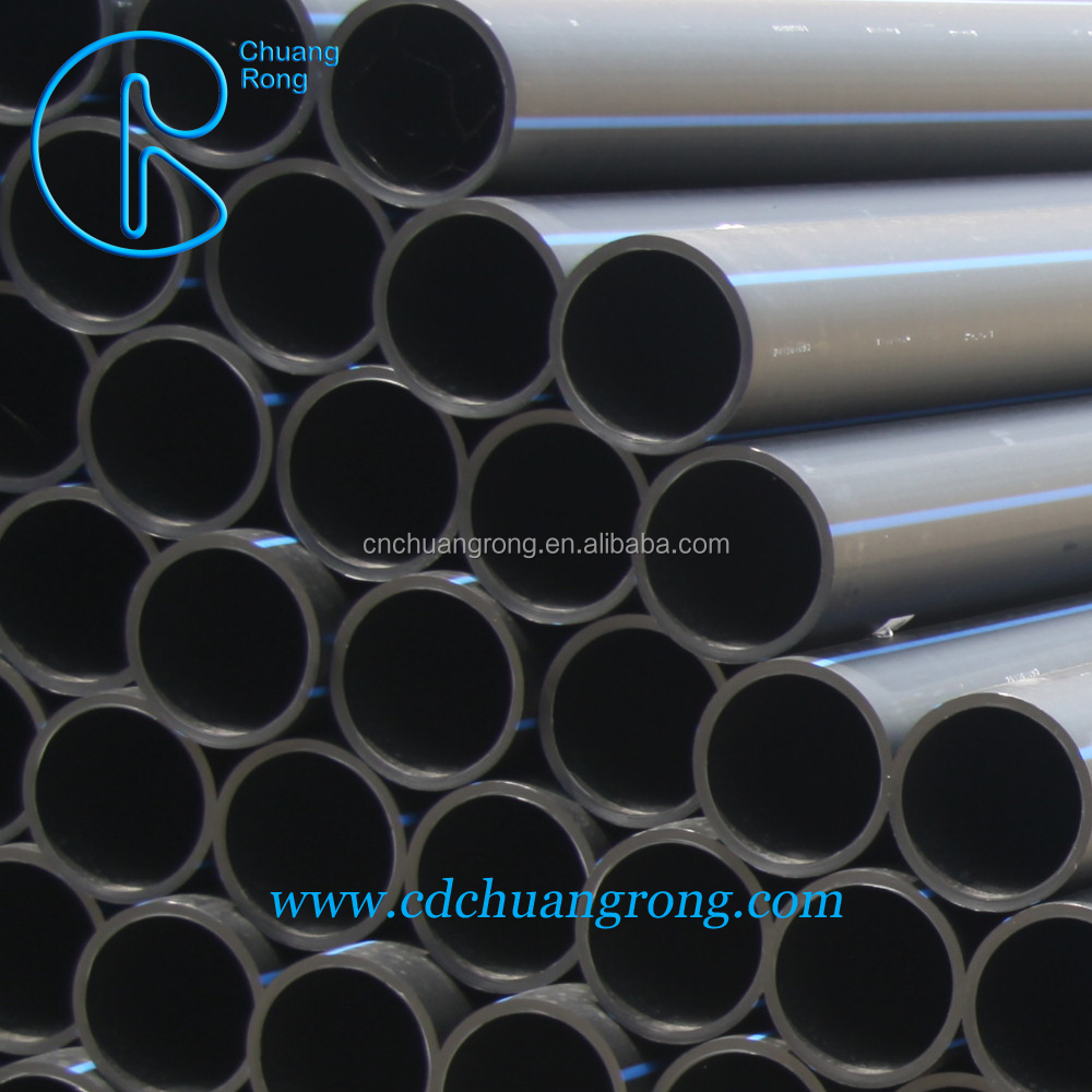 HDPE 80 PN 6 plastic tube water pipe