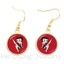 Красные сексуальные стеклянные купольные Серьги-Подвески ручной работы, женские вечерние серьги, ювелирные аксессуары, оптовая продажа(Китай)