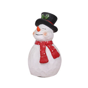 Art Deco Statue Christmas Snowman New Year Decoration Resin Craft