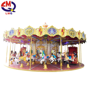 Exciting family indoor used plastic carousel horse for kids
