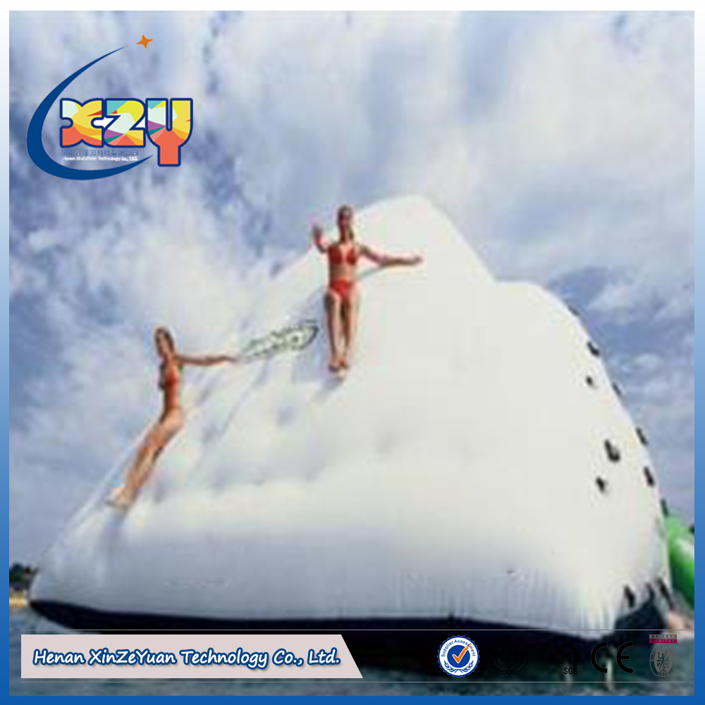 High quality large inflatable iceberg floating water pool toys for the lake