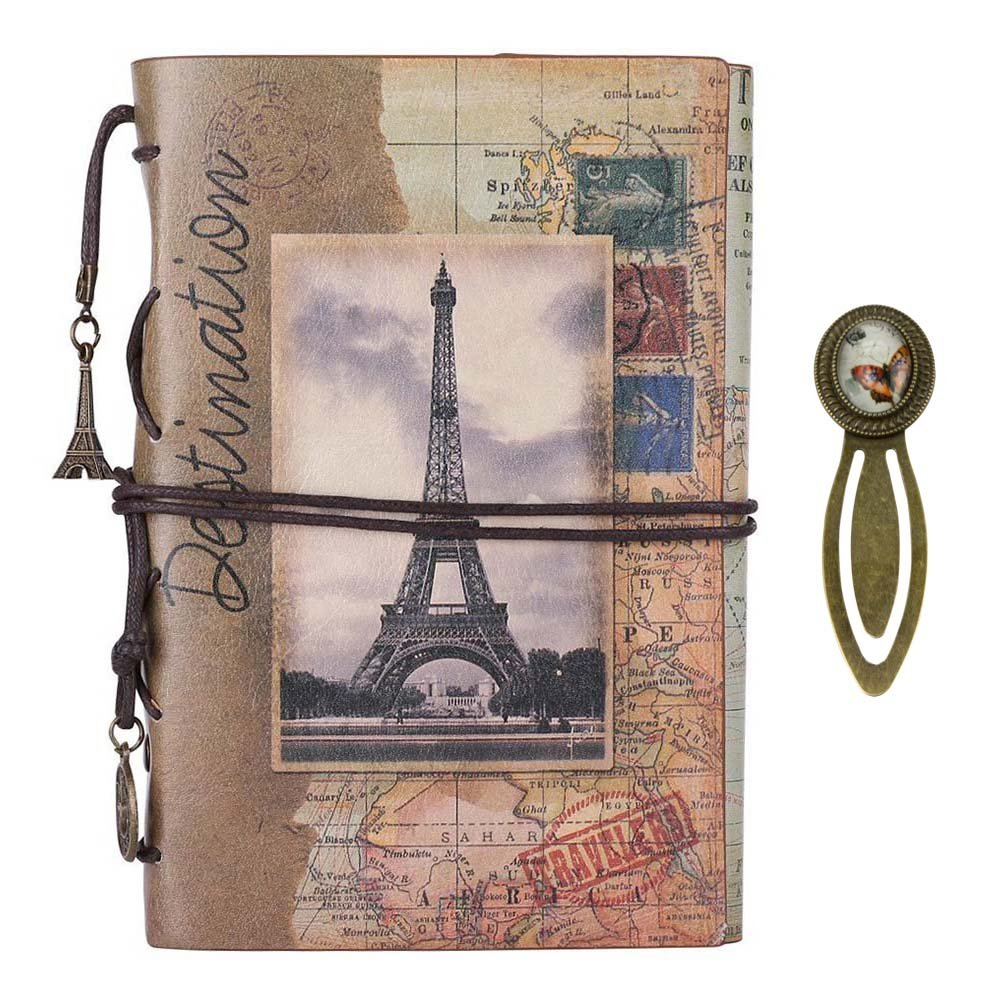 Mai Yi Retro Vintage Refillable Diary A6 Pu Leather Cover Elastic Band Ring Binders Blank Travel Notebook