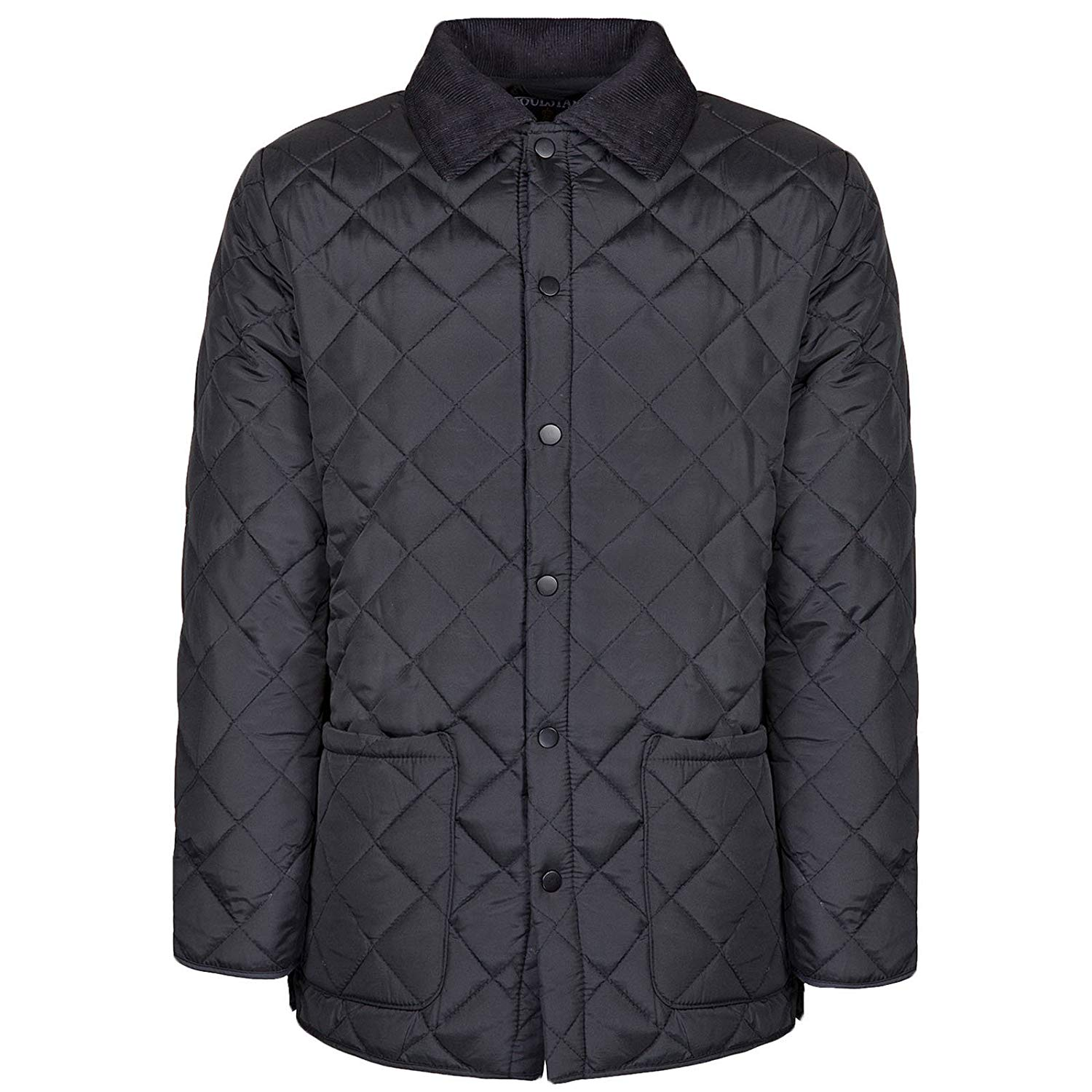 Soul Star Mens Diamond Quilted Jacket