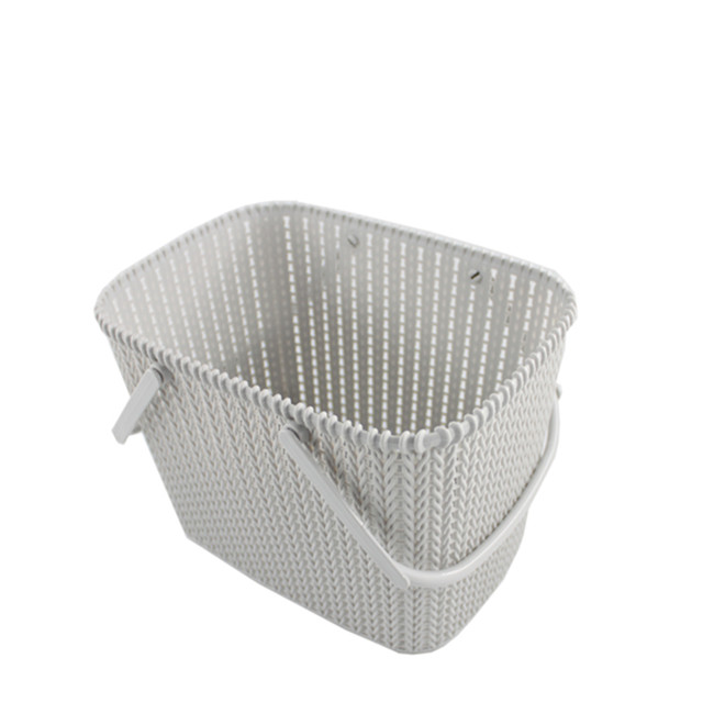 Square Rattan wicker Plastic storage basket with handle