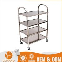 Best-Selling Custom Design Stainless Steel Kitchen Utility Cart Trolley Design