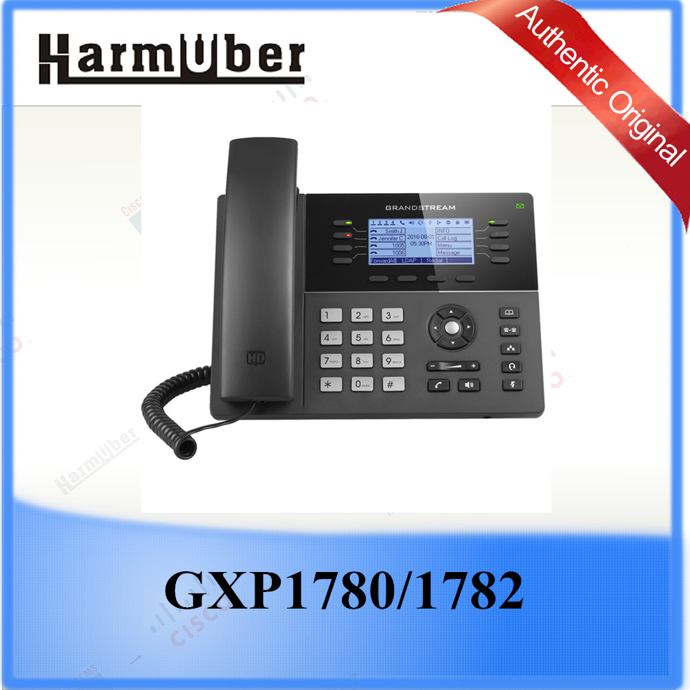 HD Wideband Audio, Fullduplex Speakerphone with Advanced Acoustic Echo Cancellation IP Phone Grandstream GXP1782