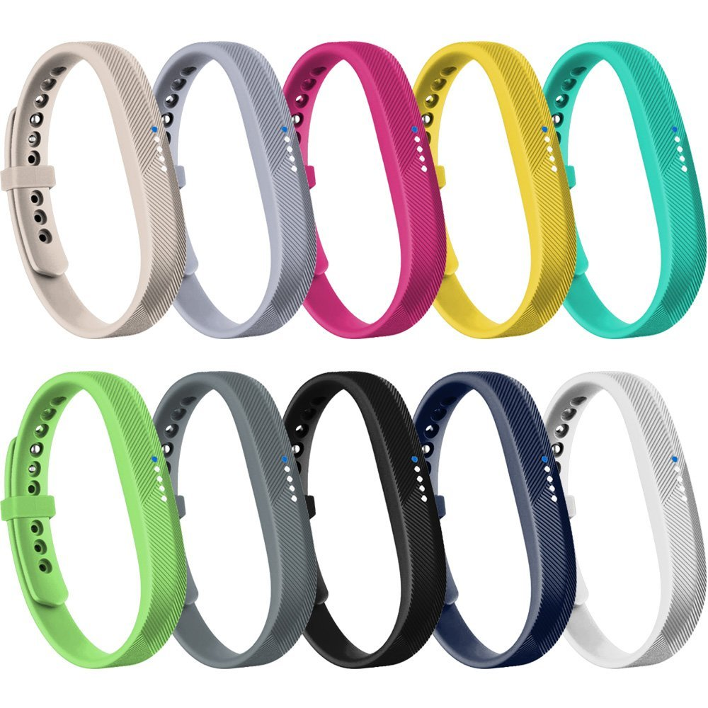 Fitbit Flex 2 Bands, RedTaro Bands for Fitbit Flex 2,with Security Fastener Rings,10 Classic Colors,Small Large-Fitbit Flex 2 Bands/Straps/Bracelets only,not included Fitness Trackers of Fitbit Flex 2