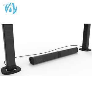 Detachable home free sample 20W wireless bluetooth soundbar theater speaker made in China