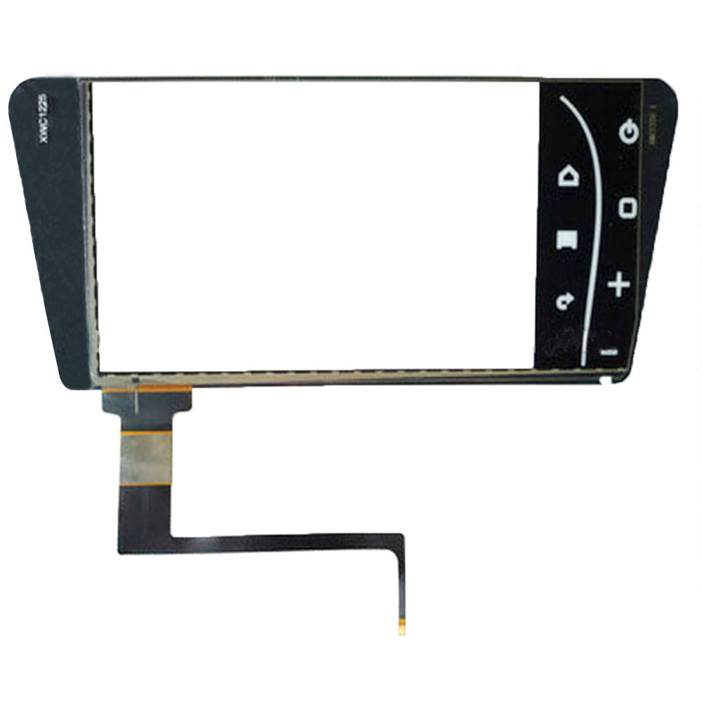 ITO Glas 9 inch capaciteit touch screen met touch functietoetsen