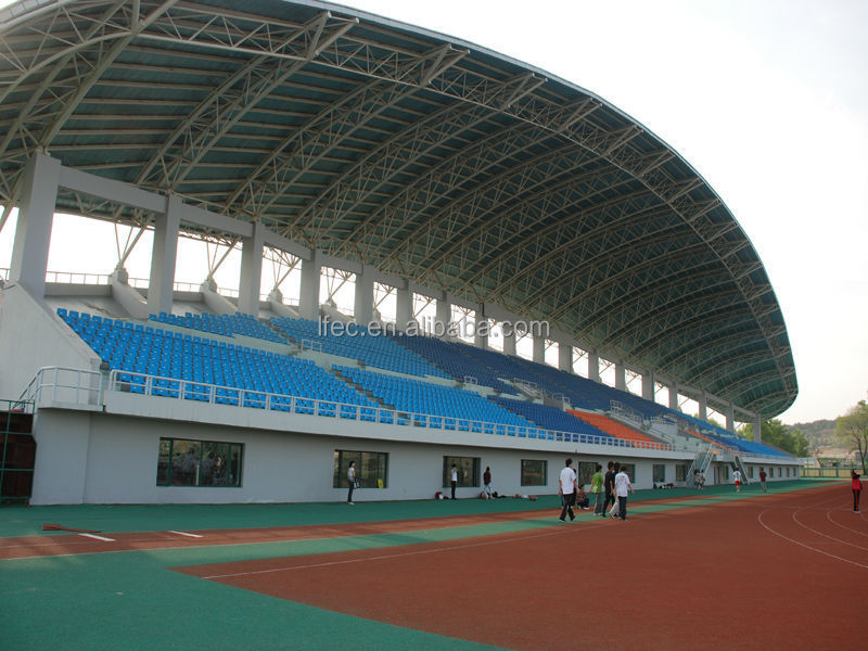 Light guage space frame steel bleachers