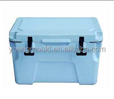 Travel using plastic ice box container for storage