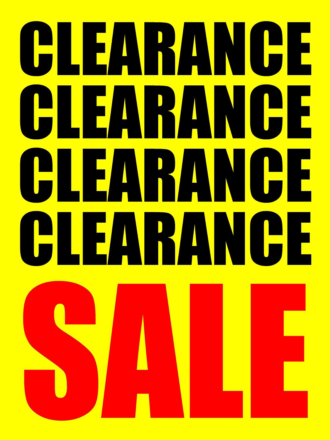photograph relating to Free Printable Sale Signs for Retail identified as Obtain Clearance Sale Retail outlet Organization Retail Show Symptoms, 18