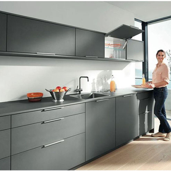 Nepal Wooden Furniture Grey Modern Kitchen Cabinet Cabinets Product