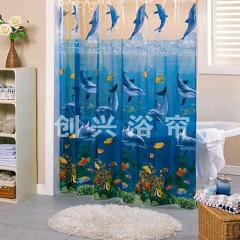 High Quality Dolphins Peva Printed Shower Curtains Buy Printed Shower Curtains Peva Printed