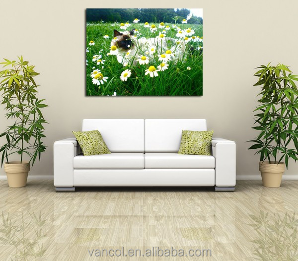 Wood framed dropshipping grass canvas printing <strong>art</strong>, canvas prints