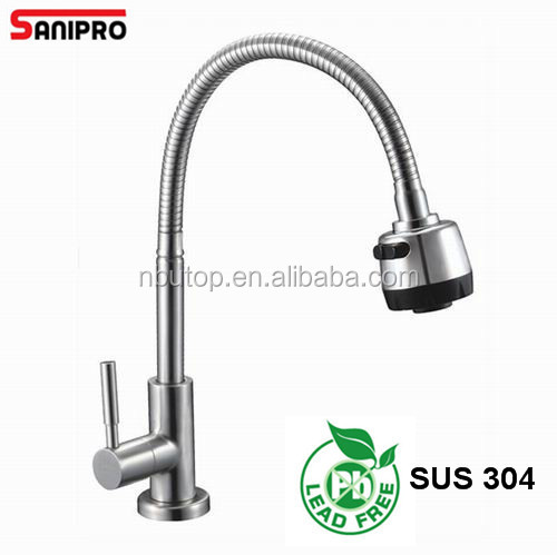 High quality cold water stainless steel taps