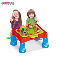 New style kids play learning toys building blocks folding puzzle table