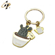 gold soft enamel Succulents plant cartoon gift kids key chain/keyring