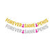 Glitter Paper Hen Party Forever Same Penis Bachelorette Party Supplies Banner