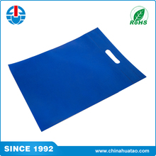 Fugang Customized logo yourself! competitive price dark blue color die cut non woven shopping bag for grocery packing