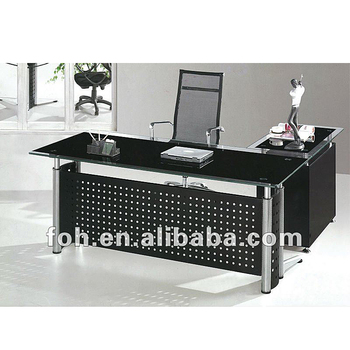 Manager Tempered Gl Office Tables Decoration Fohj 8028