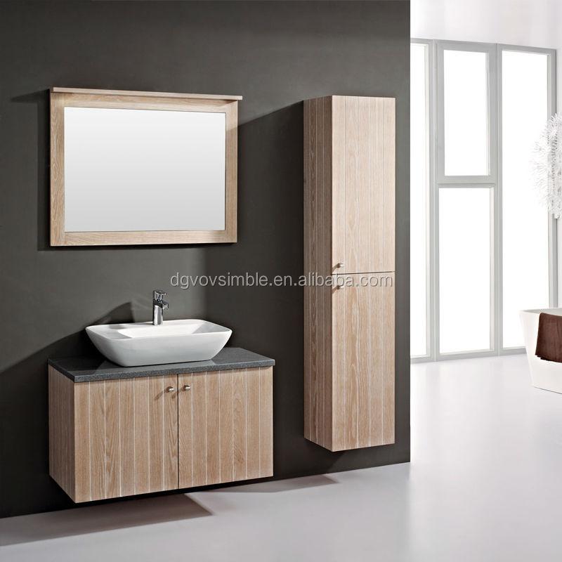 madera moderna chapa de madera mueble de bao con encimera de piedra artificial y lavabo de