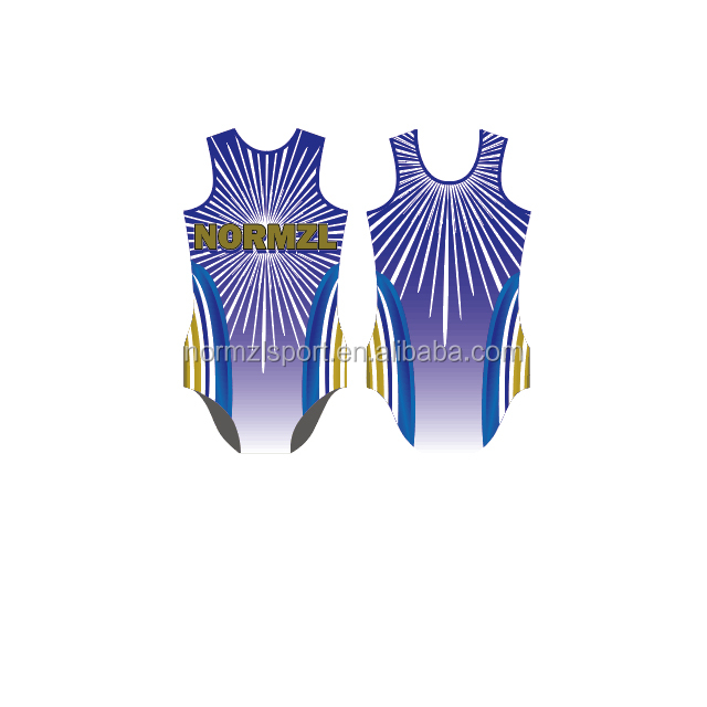 Latest Design Team Training Dance Gymnastic Sleeveless Competition Leotards Ballet