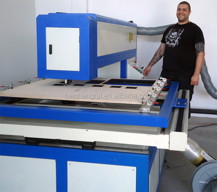 china machine supplier export to singapore ball screw PVC die board laser cutting machine