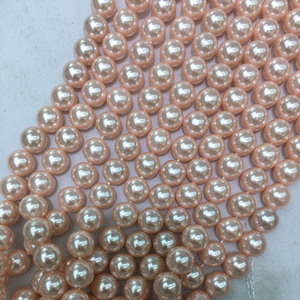 2018 Hot selling 10mm 12mm 14mm strand beads colored imitation pearl shell beads for jewelry making