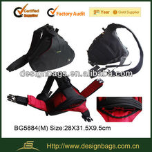 with belt and triangle shape video bag/camera bag manufacturer