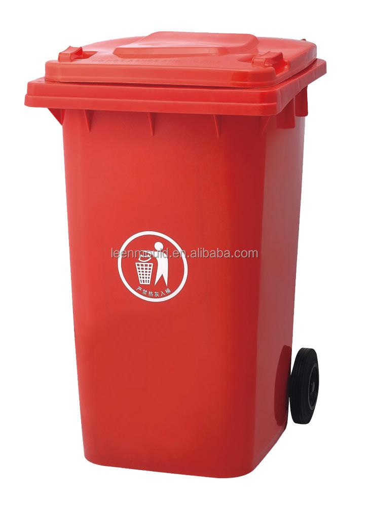 china neue 100l gr n rot outdoor handy m lltonne mit r dern abfallbeh lter mit deckel cover. Black Bedroom Furniture Sets. Home Design Ideas