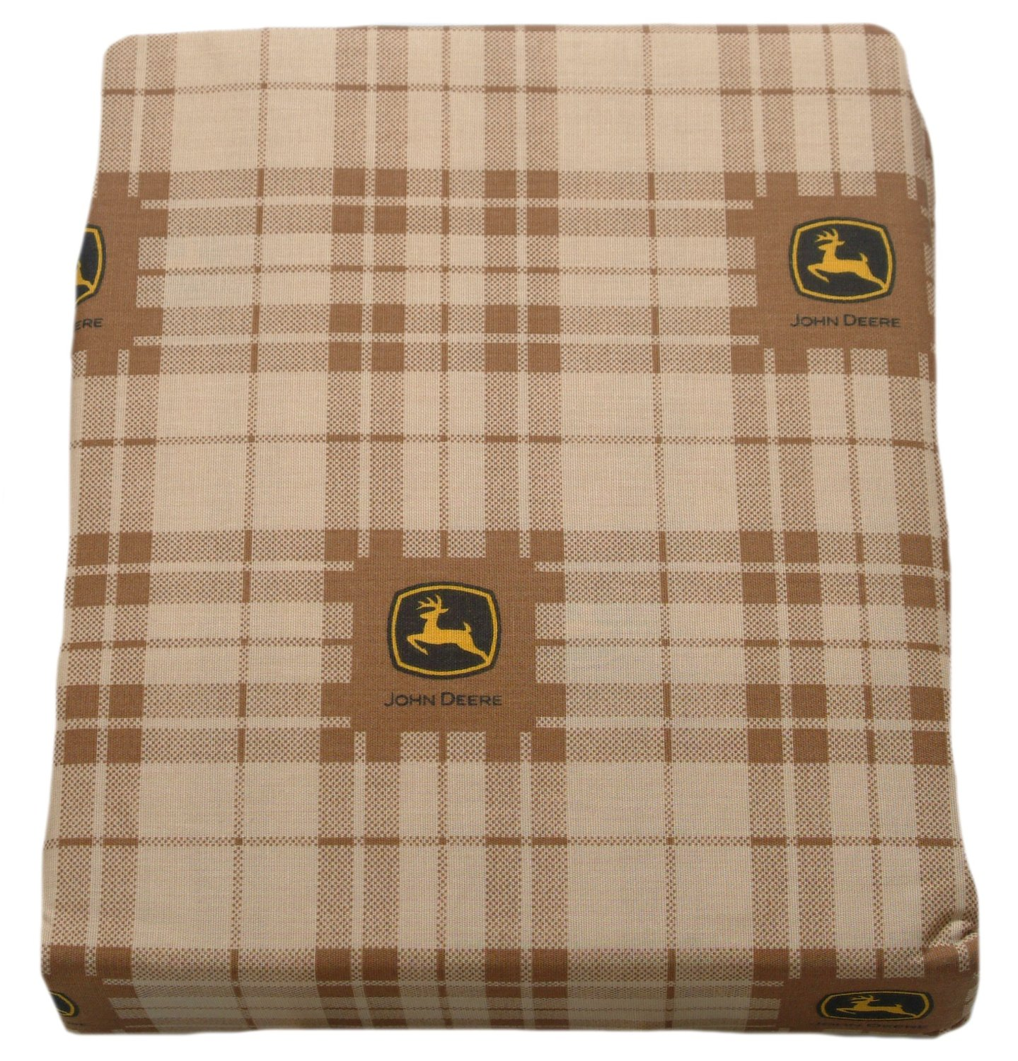 JOHN DEERE Bedding Traditional Tractor and Plaid Collection, 3-Piece Sheet Set, Twin Size